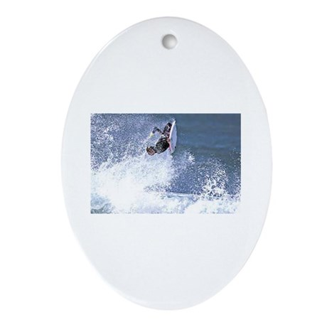 Surf and Bodyboard Oval Ornament