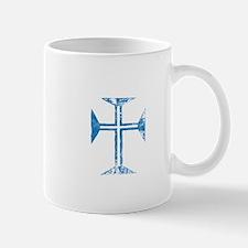 Pretty blue christian cross 2 L z Mug