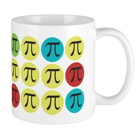Colorful Mod Pi Mug