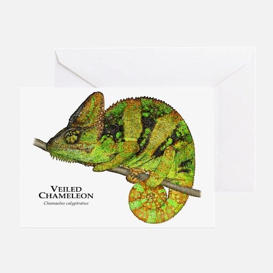 Veiled Chameleon Greeting Card