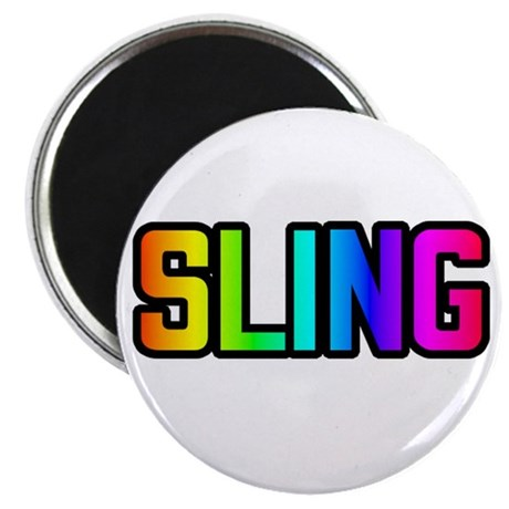 SLING RAINBOW TEXT Magnet