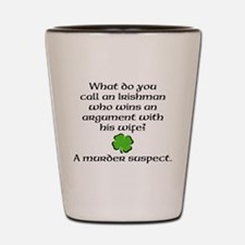 Suspicious Irishman Shot Glass