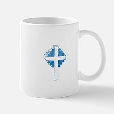 Pretty blue christian cross 2 U Z Mug