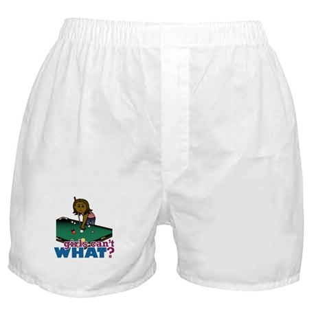 Girl Shooting Pool Boxer Shorts