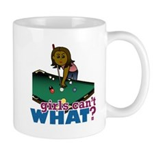 Girl Shooting Pool Mug