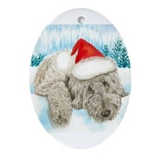 Christmas Labradoodle Ornament (Oval)
