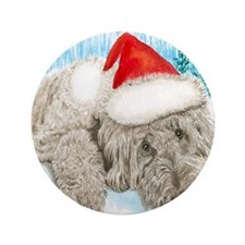"""Christmas Labradoodle 3.5"""" Button"""