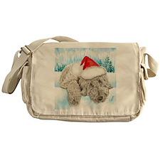 Christmas Labradoodle Messenger Bag