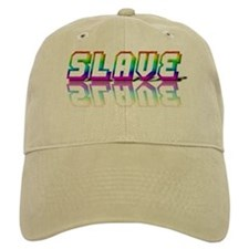 SLAVE RAINBOW TEXT KHAKI Baseball Cap