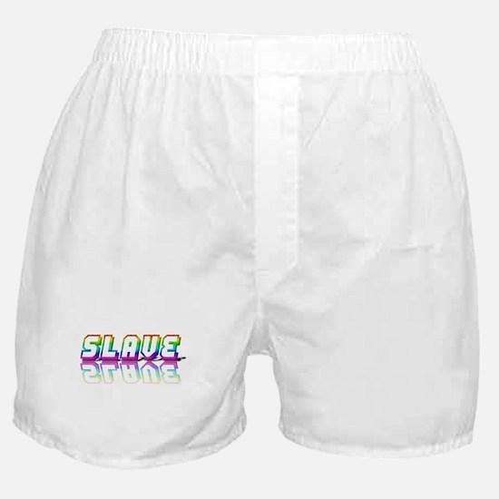 SLAVE RAINBOW TEXT Boxer Shorts