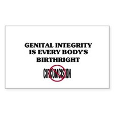Genital Integrity Oval Decal