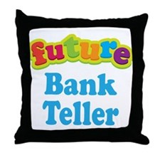 Future Bank Teller Throw Pillow