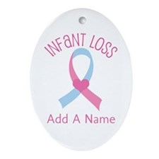 Personalized Infant Loss ribbon Ornament (Oval)