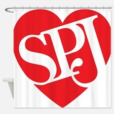 Red SPJ Love Shower Curtain