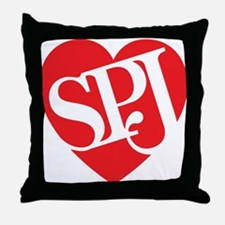 Red SPJ Love Throw Pillow