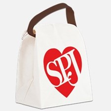 Red SPJ Love Canvas Lunch Bag