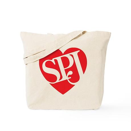 Red SPJ Love Tote Bag