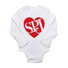 Red SPJ Love Body Suit