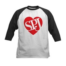 Red SPJ Love Baseball Jersey