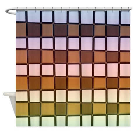Brown and Gray Shower Curtain by CopperCreekDesignStudio