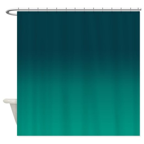 Dramatic Teal Shower Curtain