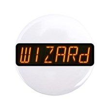 "Pinball Wizard Alphanumeric Display 3.5"" Button"