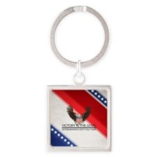 Political Victory Square Keychain