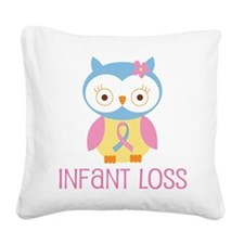 Personalized Infant Loss ribbon Square Canvas Pill