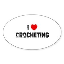 I * Crocheting Oval Decal