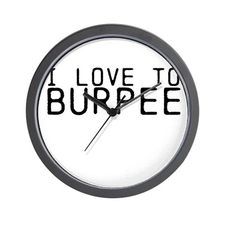 I love to Burpee Wall Clock