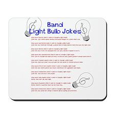 Band Light Bulb Jokes Mousepad