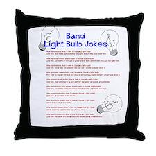 Band Light Bulb Jokes Throw Pillow
