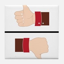 Thumbs Up or Down? Tile Coaster