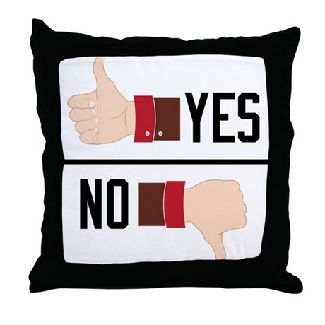 Throw Pillows Yes Or No : Yes or No Throw Pillow by listing-store-71974099