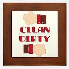 Clean or Dirty Framed Tile