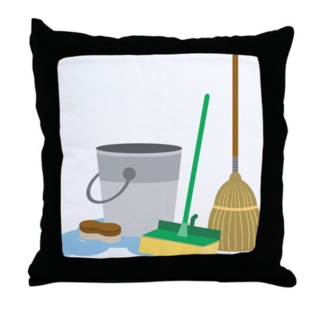 Cleaning Supplies Throw Pillow by listing-store-71974099