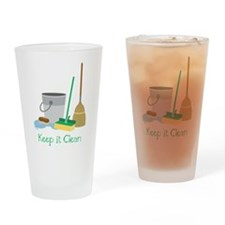 Keep It Clean Drinking Glass