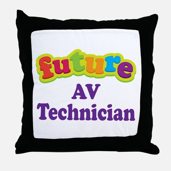 Future AV Technician Throw Pillow