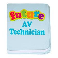 Future AV Technician baby blanket