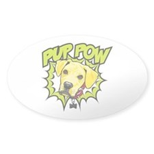 Pup Pow Sticker Clear