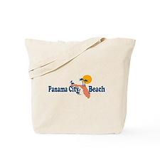 Panama City Beach - Map Design. Tote Bag