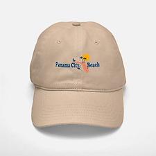 Panama City Beach - Map Design. Baseball Baseball Cap