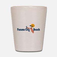 Panama City Beach - Map Design. Shot Glass