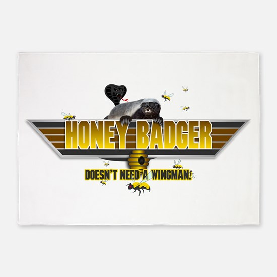 Honey Badger Doesnt Need a Wingman 5'x7'Area Rug