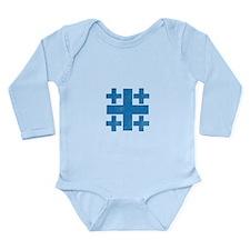 Pretty blue christian cross 3 U P Body Suit