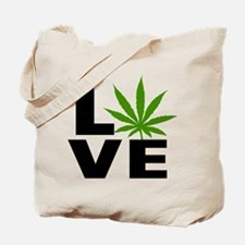 I Love Marijuana Tote Bag