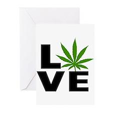 I Love Marijuana Greeting Cards (Pk of 10)