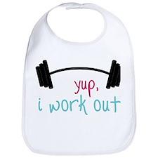 I Work Out Bib