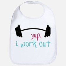 I Work Out Bib