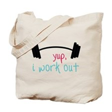 I Work Out Tote Bag